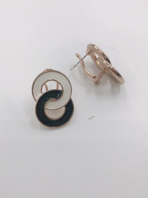 VIENNOIS Zinc Alloy Enamel Irregular Minimalist Clip Earring