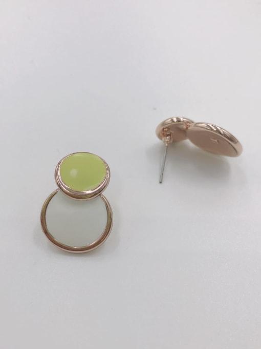 VIENNOIS Zinc Alloy Enamel Round Minimalist Stud Earring 1
