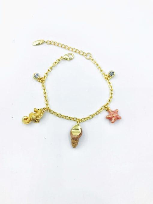 VIENNOIS Zinc Alloy Rhinestone Clear Enamel Star Trend Bracelet