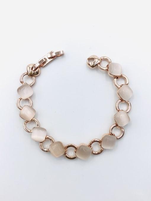 VIENNOIS Zinc Alloy Cats Eye White Geometric Minimalist Bracelet