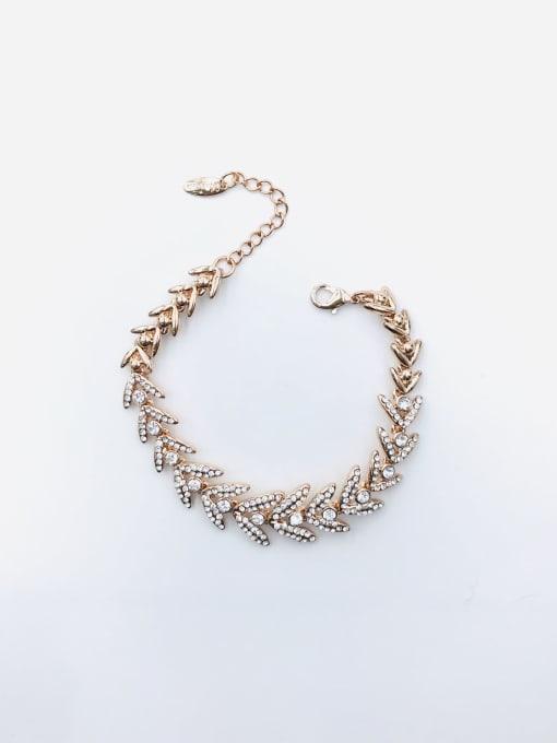 VIENNOIS Zinc Alloy Rhinestone White Irregular Trend Bracelet