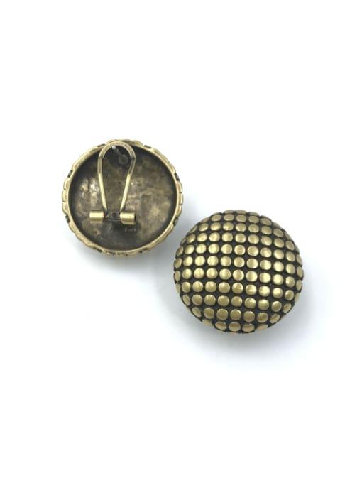 antique gold Zinc Alloy Round Minimalist Clip Earring