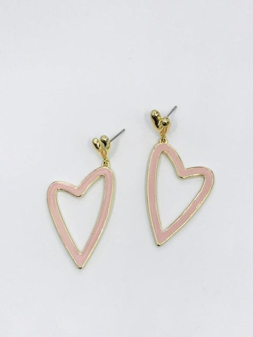 VIENNOIS Zinc Alloy Enamel Heart Minimalist Drop Earring