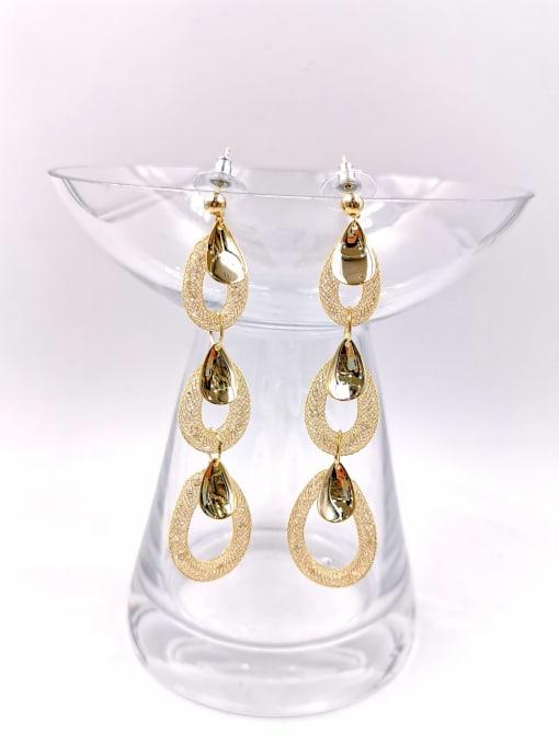 VIENNOIS Brass Cubic Zirconia Clear Water Drop Trend Drop Earring