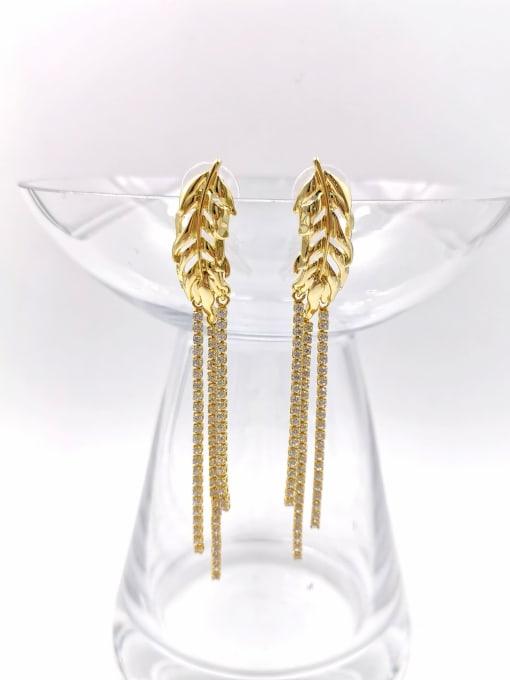 VIENNOIS Zinc Alloy Cubic Zirconia Clear Tassel Trend Drop Earring 0