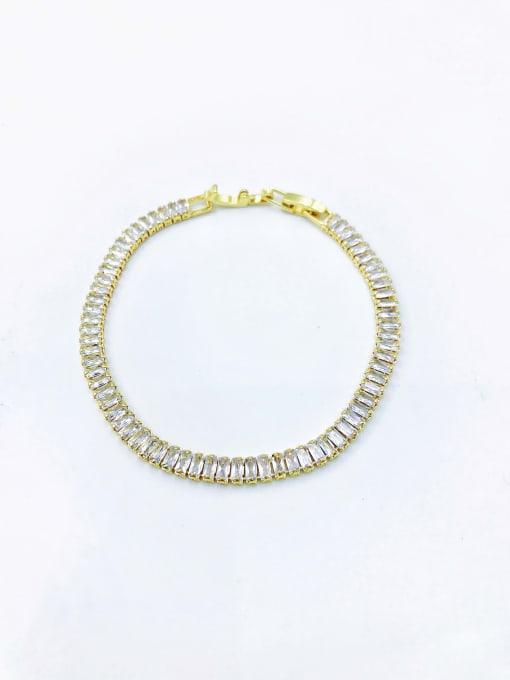VIENNOIS Brass Cubic Zirconia Clear Minimalist Bracelet