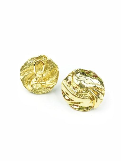 Gold Zinc Alloy Irregular Minimalist Clip Earring