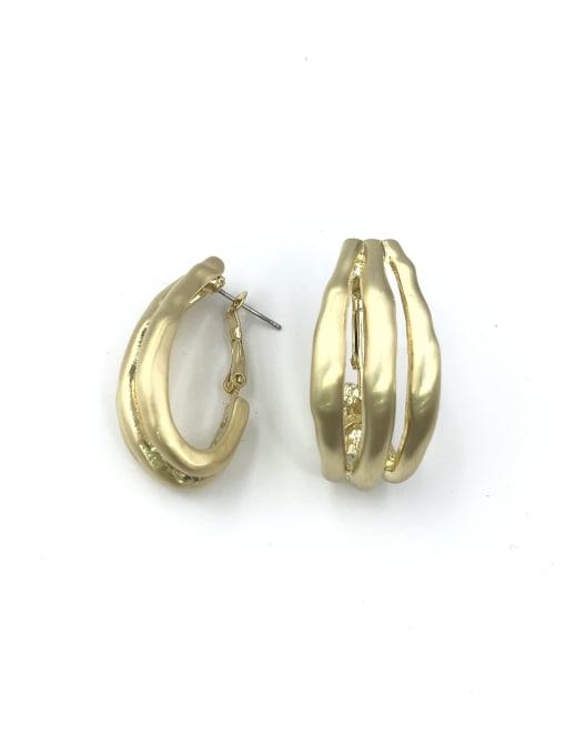 VIENNOIS Zinc Alloy Irregular Minimalist Huggie Earring 1