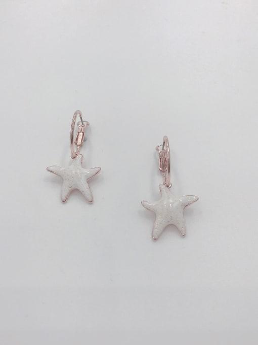 VIENNOIS Zinc Alloy Enamel Star Cute Huggie Earring 1