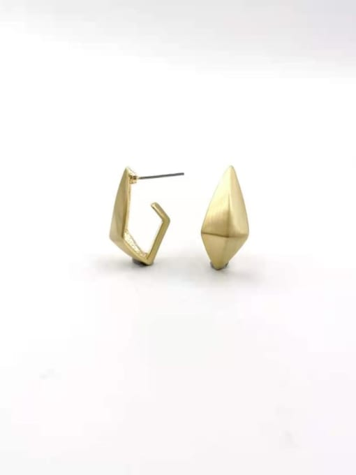 Gold Zinc Alloy Geometric Minimalist Stud Earring