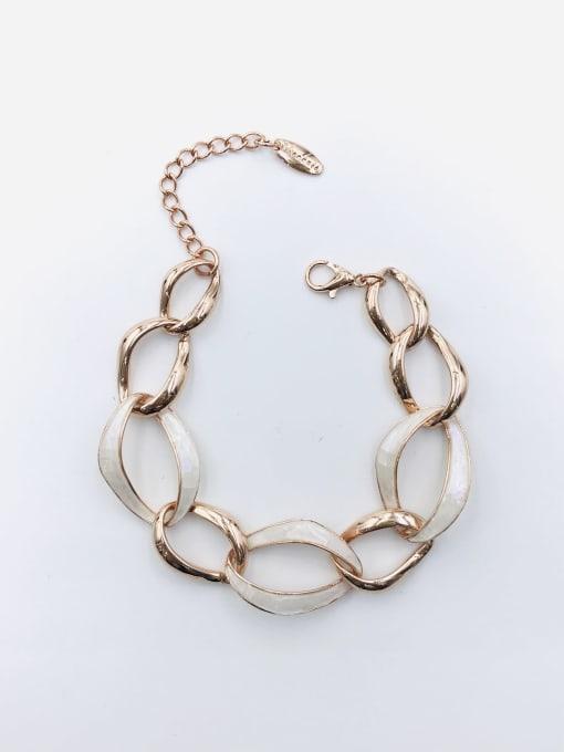 Rose Zinc Alloy Shell White Irregular Minimalist Bracelet