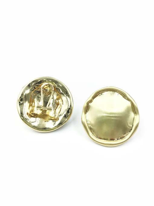 Gold Zinc Alloy Round Minimalist Clip Earring