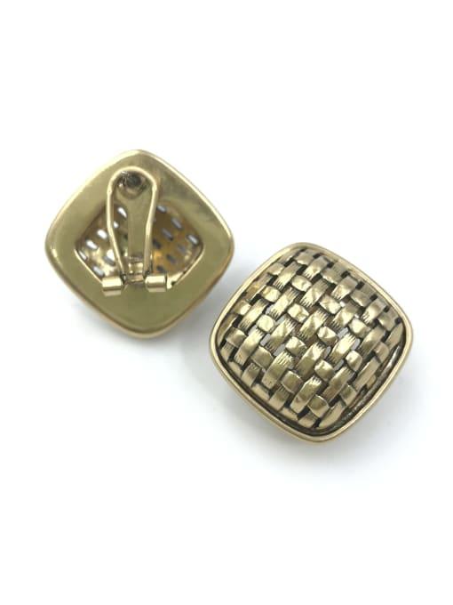 VIENNOIS Zinc Alloy Square Classic Clip Earring