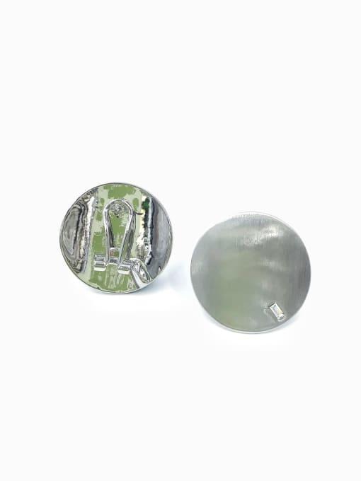 VIENNOIS Zinc Alloy Rhinestone Clear Round Minimalist Clip Earring