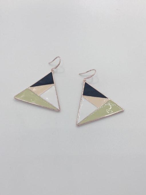 VIENNOIS Zinc Alloy Enamel Triangle Statement Hook Earring