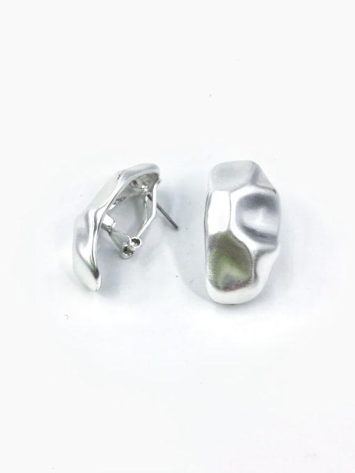 Silver Zinc Alloy Irregular Minimalist Clip Earring