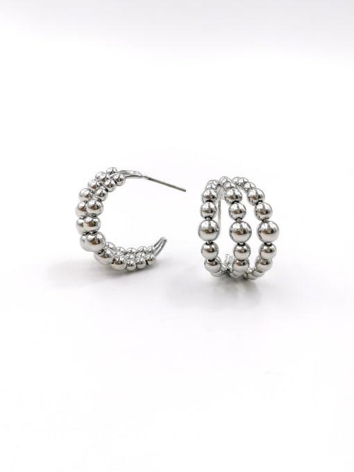 Silver Zinc Alloy Hook Classic Stud Earring