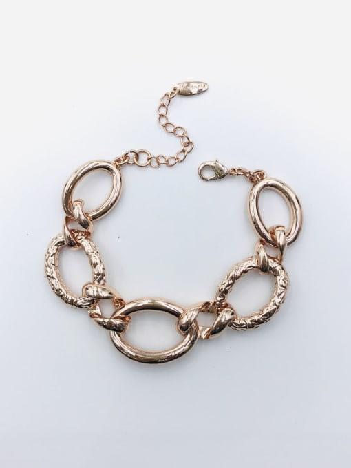Rose Zinc Alloy Oval Statement Bracelet