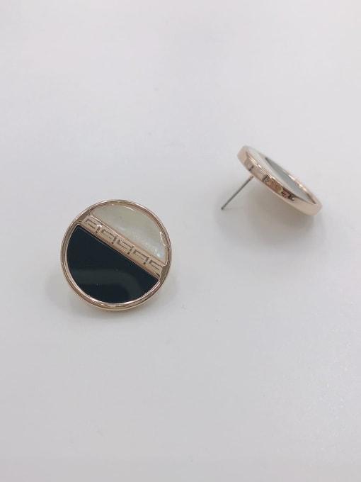 VIENNOIS Zinc Alloy Acrylic Round Classic Stud Earring 0