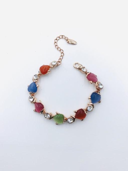 VIENNOIS Zinc Alloy Cats Eye Multi Color Fish Trend Bracelet