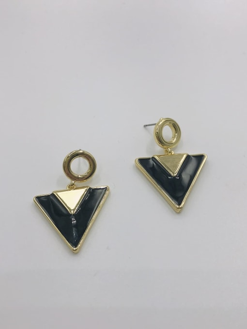 VIENNOIS Zinc Alloy Enamel Triangle Trend Drop Earring 0