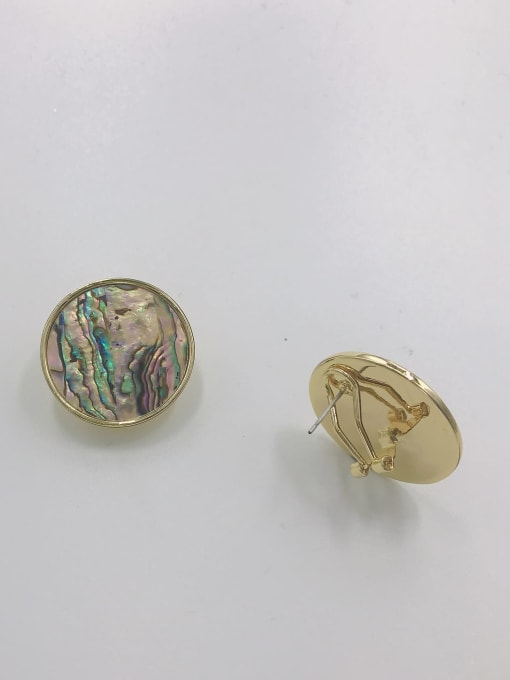 VIENNOIS Zinc Alloy Shell Multi Color Round Minimalist Clip Earring 1