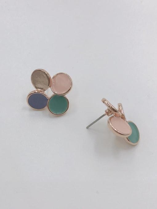 VIENNOIS Zinc Alloy Enamel Round Cute Stud Earring 0