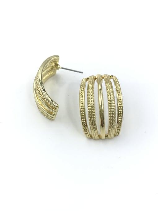 VIENNOIS Zinc Alloy Rectangle Minimalist Stud Earring 0