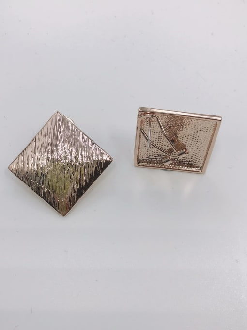 Rose Zinc Alloy Square Minimalist Clip Earring