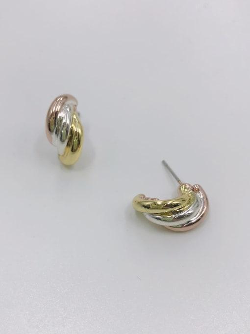 VIENNOIS Zinc Alloy Irregular Minimalist Stud Earring 1