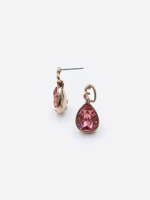 VIENNOIS Zinc Alloy Glass Stone Red Water Drop Minimalist Drop Earring 0