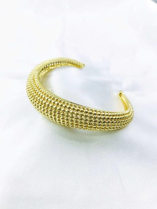VIENNOIS Brass Irregular Minimalist Cuff Bangle