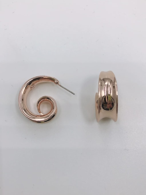 Rose Zinc Alloy Irregular Minimalist Stud Earring