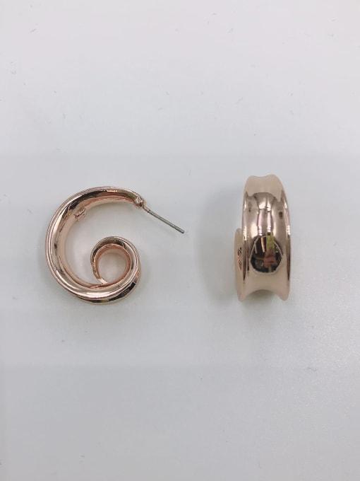 VIENNOIS Zinc Alloy Irregular Minimalist Stud Earring 2
