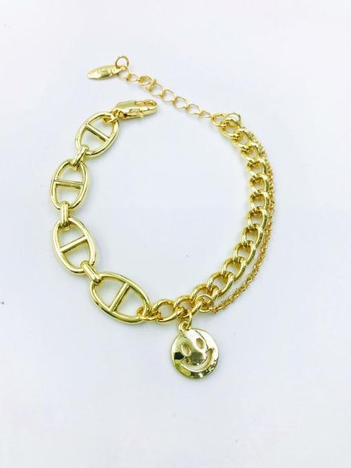 VIENNOIS Zinc Alloy Smiley Trend Link Bracelet 0