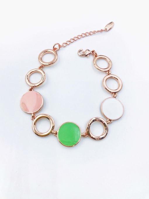 VIENNOIS Zinc Alloy Enamel Round Minimalist Bracelet