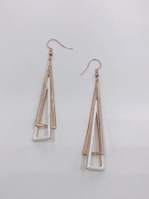 VIENNOIS Zinc Alloy Enamel Triangle Minimalist Hook Earring 0