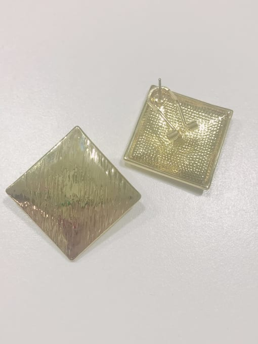 Gold Zinc Alloy Square Minimalist Clip Earring