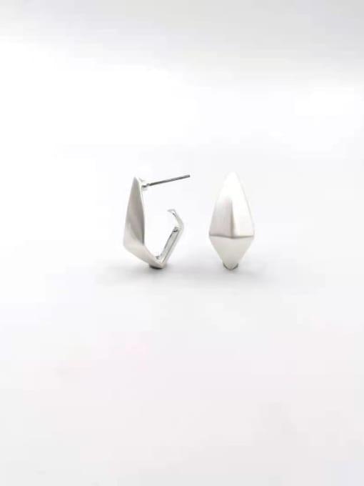 Silver Zinc Alloy Geometric Minimalist Stud Earring