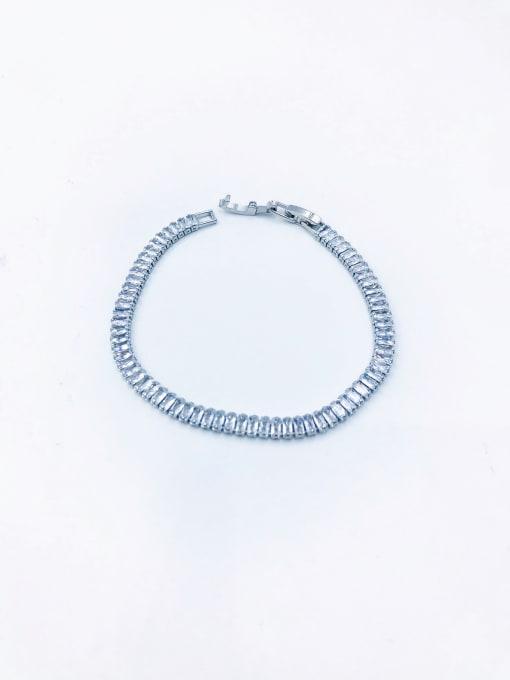 VIENNOIS Brass Cubic Zirconia Clear Minimalist Bracelet 2
