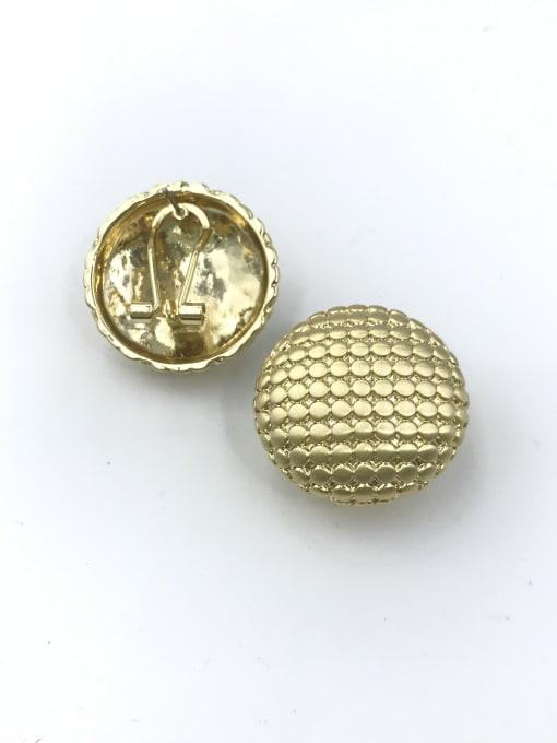 VIENNOIS Zinc Alloy Round Minimalist Clip Earring 1