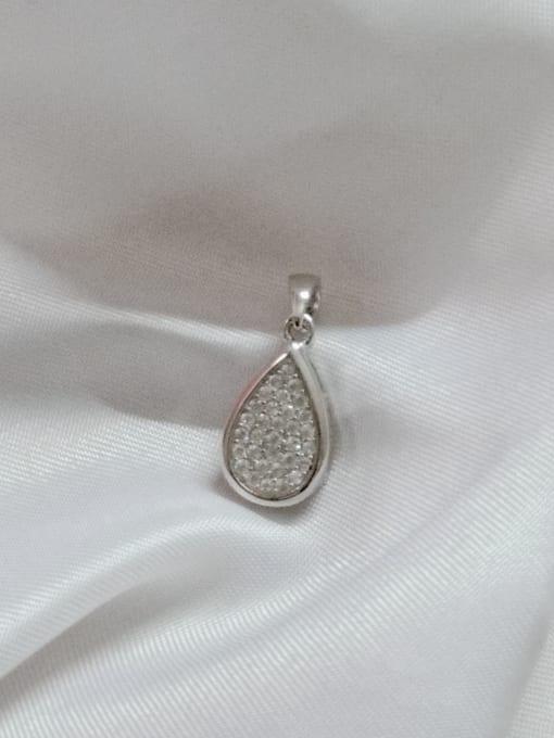 YUEFAN Water Drop 925 Sterling Silver Cubic Zirconia White Dainty Pendant 1