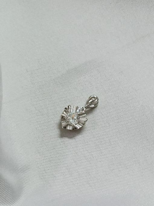 YUEFAN Heart 925 Sterling Silver Cubic Zirconia White Minimalist Pendant 2