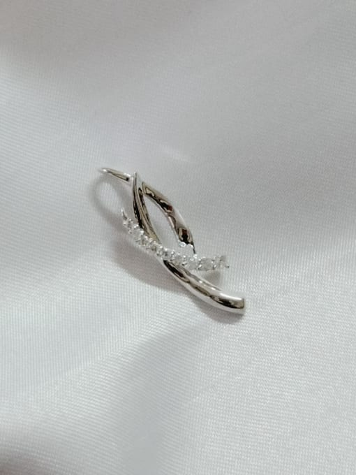 YUEFAN Geometric 925 Sterling Silver Cubic Zirconia White Minimalist Pendant 0