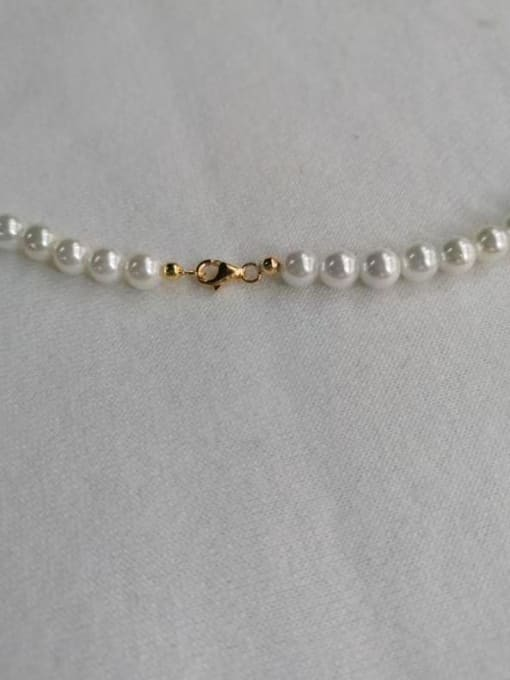 YUEFAN 925 Sterling Silver Cubic Zirconia White Star Dainty Beaded Necklace 4