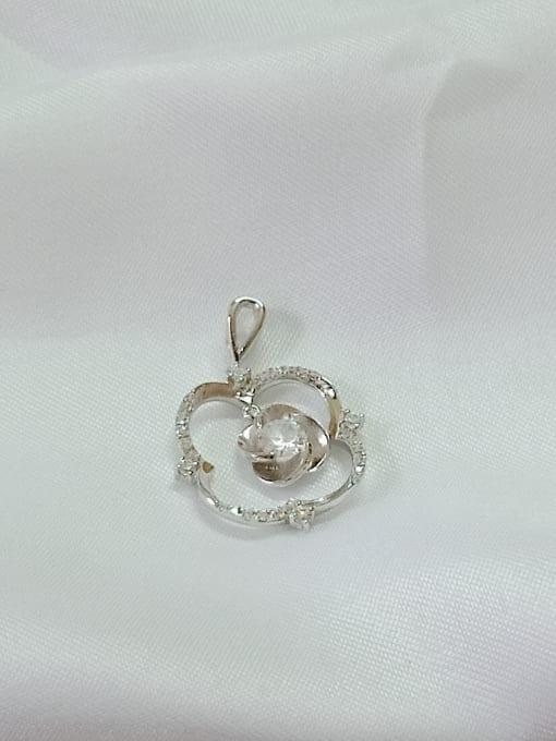 YUEFAN Flower 925 Sterling Silver Cubic Zirconia White Minimalist Pendant 1