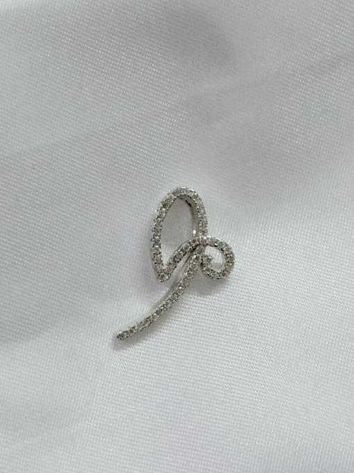 YUEFAN Bowknot 925 Sterling Silver Cubic Zirconia White Minimalist Pendant 0