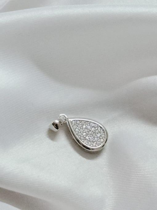 YUEFAN Water Drop 925 Sterling Silver Cubic Zirconia White Dainty Pendant 2