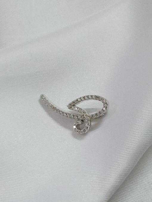 YUEFAN Bowknot 925 Sterling Silver Cubic Zirconia White Minimalist Pendant 2