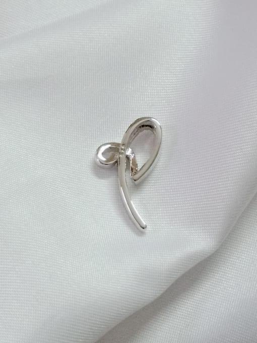 YUEFAN Bowknot 925 Sterling Silver Cubic Zirconia White Minimalist Pendant 3